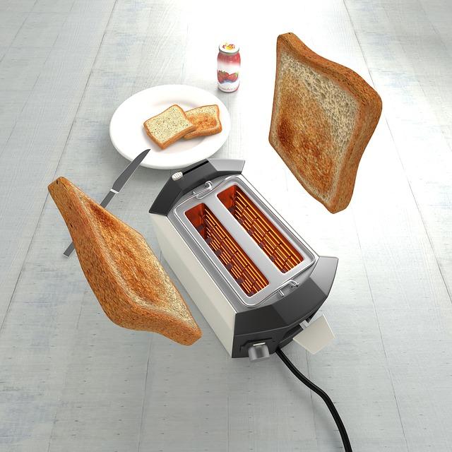 飛び出すトースト
