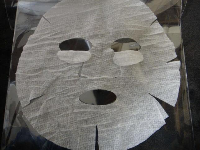 ローションシートがマスク状になる