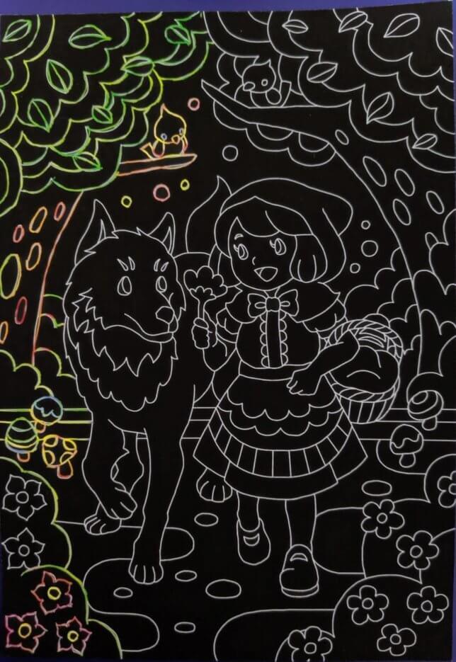 赤ずきんスクラッチアート 序盤