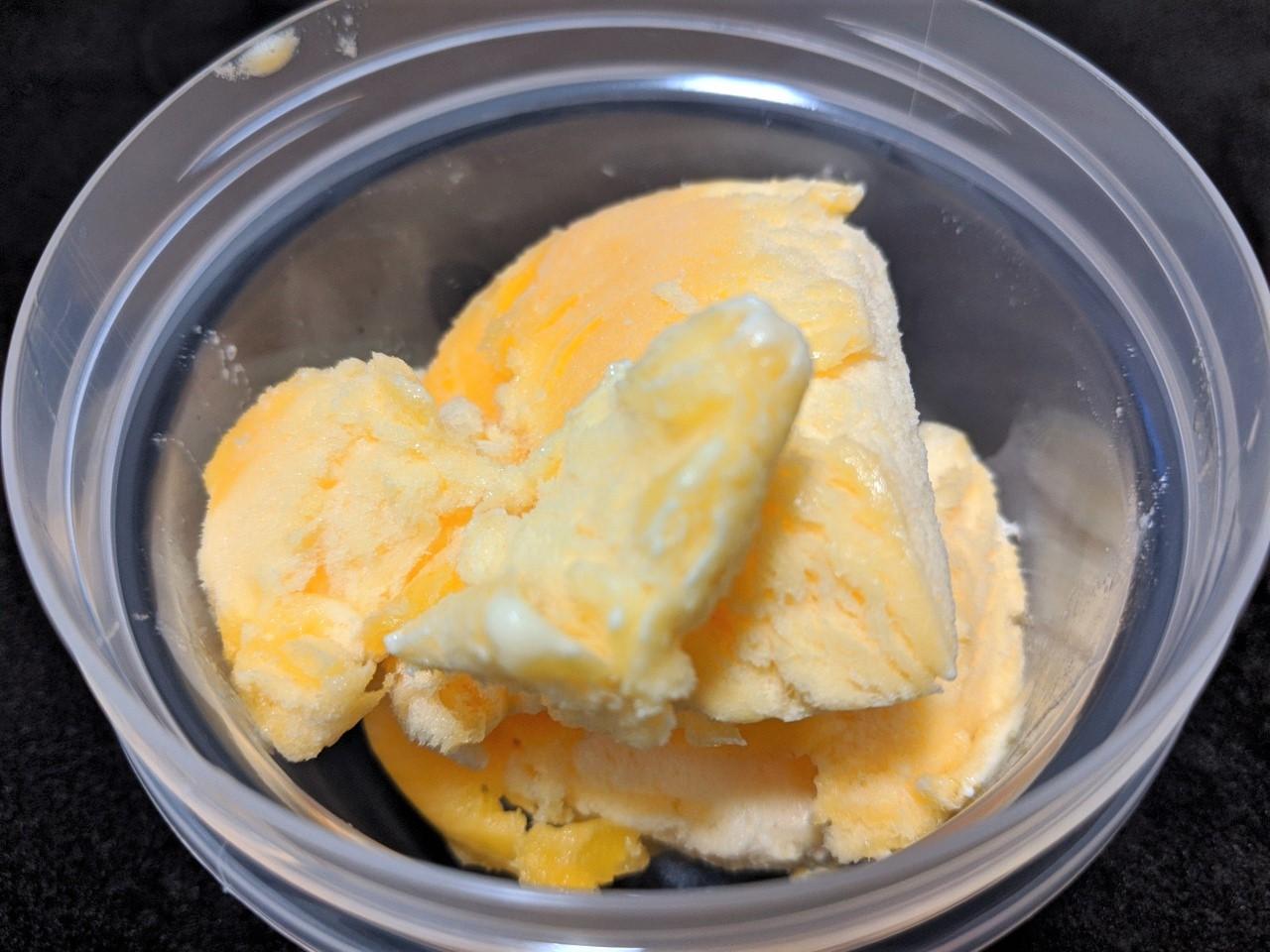 卵アイスが完成しました